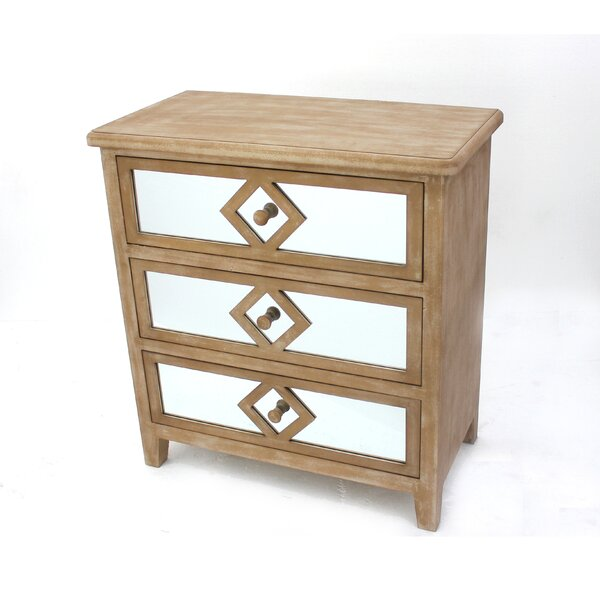 Andromeda 3 Drawer Accent Chest by House of Hampton House of Hampton