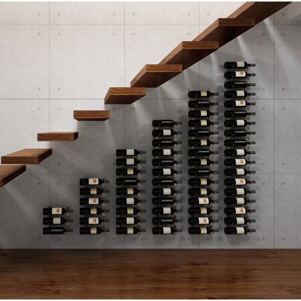 Indurial Modular Under the Stairs 189 Bottle Wall Mounted Wine Bottle Rack by Rebrilliant Rebrilliant