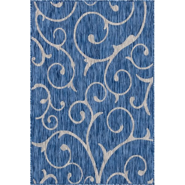 Hornersville Blue/Beige Indoor/Outdoor Area Rug by Charlton Home