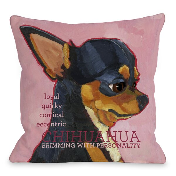 Doggy Décor Chihuahua Throw Pillow by One Bella Casa