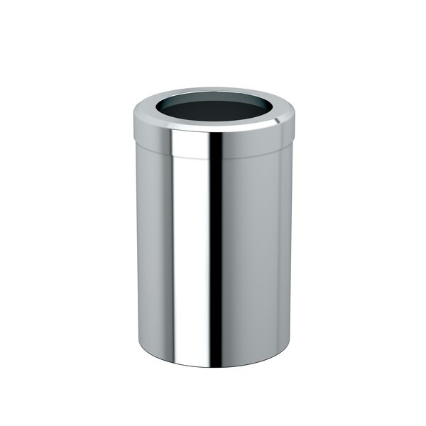 Latitude II Modern Round Stainless Steel Open Waste Basket by Gatco