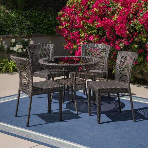 Gullette Outdoor 5 Piece Dining Set by Charlton Home