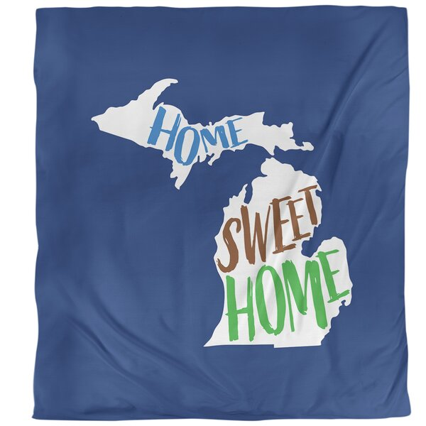 Michigan Home Sweet Single Duvet Cover