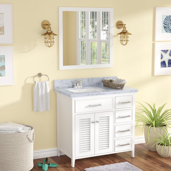 Hamil Left Offset 37 Single Bathroom Vanity with Mirror by Highland Dunes