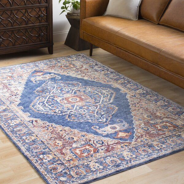 Jenessa Traditional Navy/Denim Area Rug by Darby Home Co