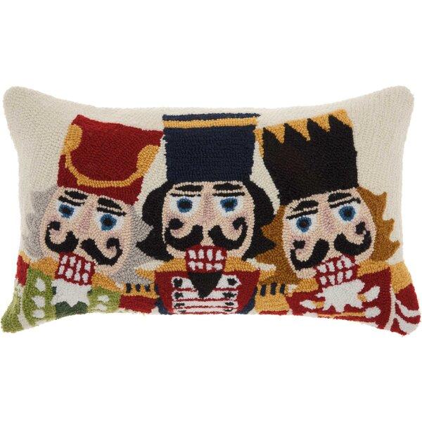 Ezekiel Three Nutcrackers Wool Lumbar Pillow by The Holiday Aisle