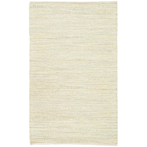 Dow Hand Woven White Area Rug by Bungalow Rose