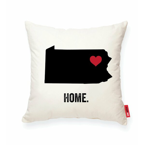 Pettry Pennsylvania Cotton Throw Pillow by Wrought Studio