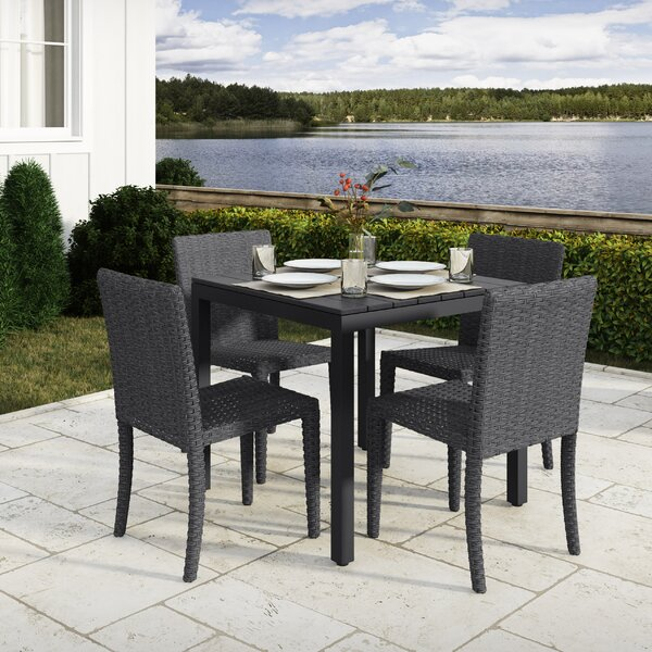 Killingworth 5 Piece Outdoor Dining Set by Rosecliff Heights