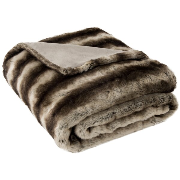 Elizebeth Striped Throw Blanket by House of Hampton