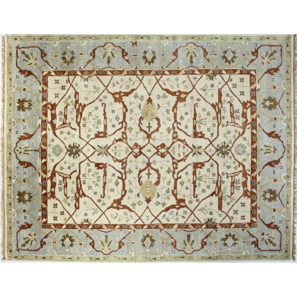 Brianna Ivory/Blue Area Rug by Astoria Grand