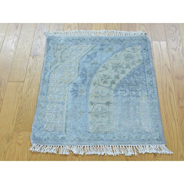 One-of-a-Kind Biali Handwoven Blue Wool/Silk Area Rug by Isabelline
