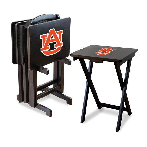 NCAA 4 Piece TV Tray Set with Stand by Imperial In