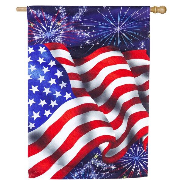 4th of July Flag Satin Garden Flag by Evergreen Enterprises, Inc