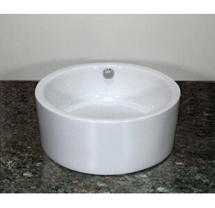 Best Price Oasis Ceramic Circular Vessel Bathroom Sink with Overflow By Inello