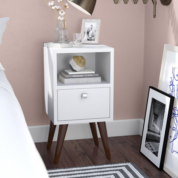 Carneal 1 Drawer Nightstand by Langley Street
