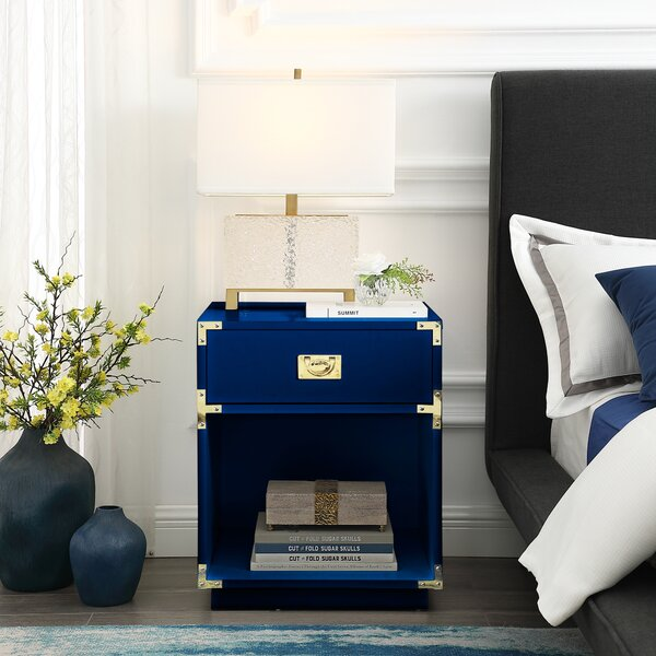 Maryjane 1 Drawer Nightstand by Everly Quinn