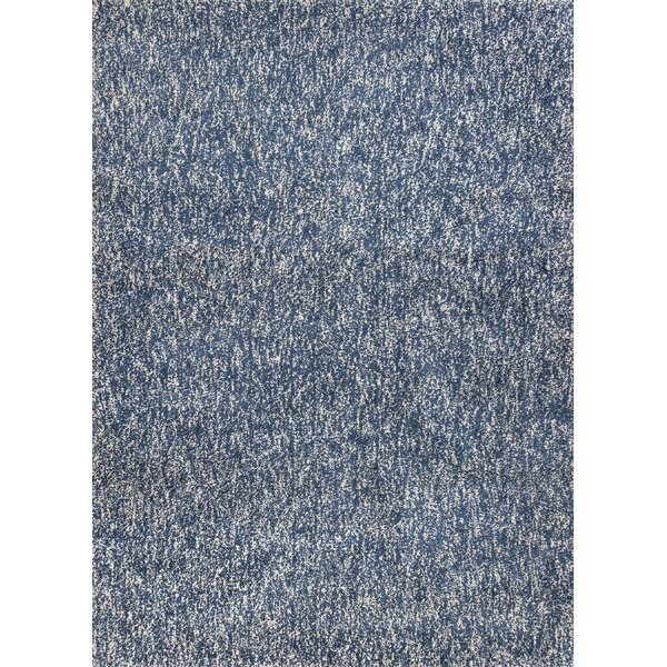 Bouvier Heather Hand-Woven Indigo/Ivory Area Rug by Wrought Studio