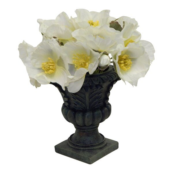 Faux Poppy Centerpiece in Urn by Astoria Grand