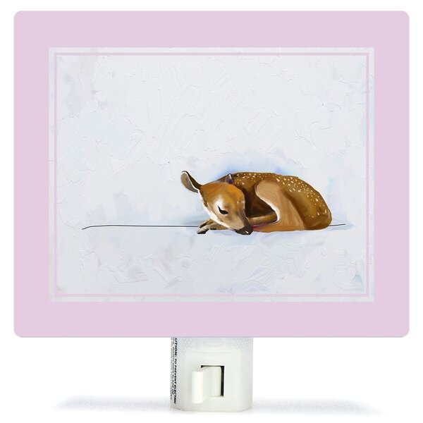 Baby Fawn by Cathy Walters Canvas Night Light by Oopsy Daisy