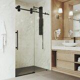 Elan 52 x 74 Single Sliding Frameless Shower Door with SmartAdjust Technology byVIGO