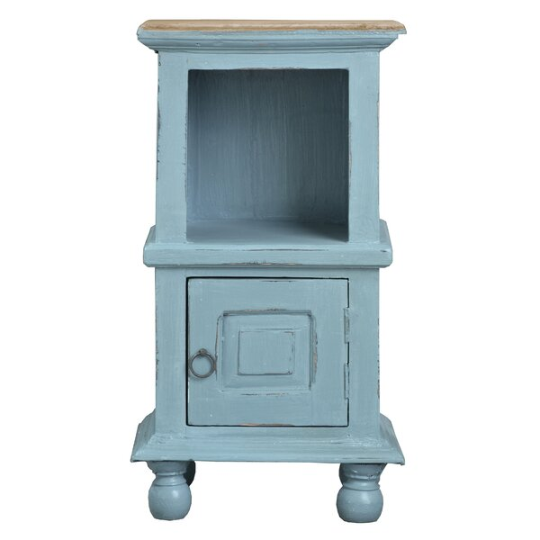Emily End Table With Storage By Rosalind Wheeler