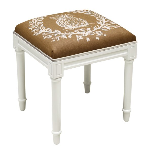 Huntwood Pineapple Vanity Stool by Bay Isle Home