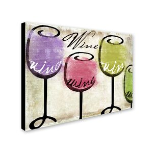 'Wine Tasting III' by Color Bakery Painting Print on Wrapped Canvas by Trademark Fine Art