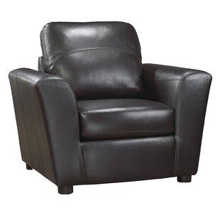 Lidiya Italian Leather Club Chair by Red Barrel Studio