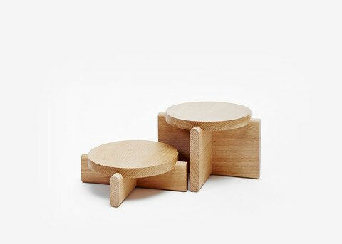 2 Piece Nesting Tables By Areaware