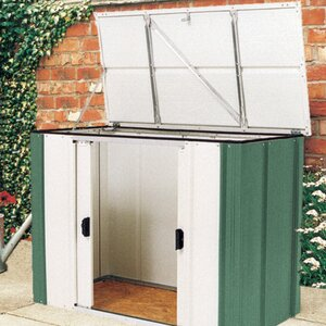 6 ft w x 3 ft d metal garden shed