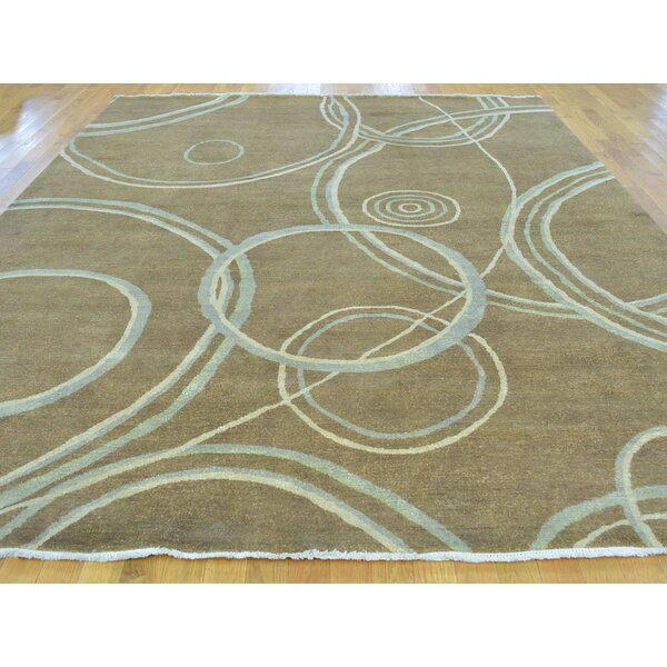One-of-a-Kind Boaz Hand-Knotted Brown Wool Area Rug by Isabelline