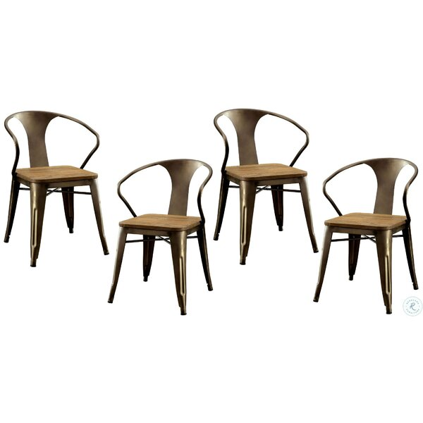 Emelia Metal Side Chair In Brown (Set Of 4) By Williston Forge