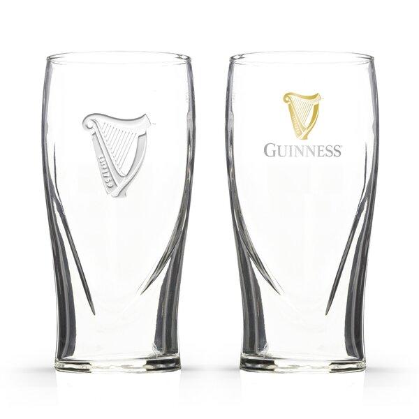Guinness Single Gravity 20 oz. Pint Glasses (Set of 2) by PB