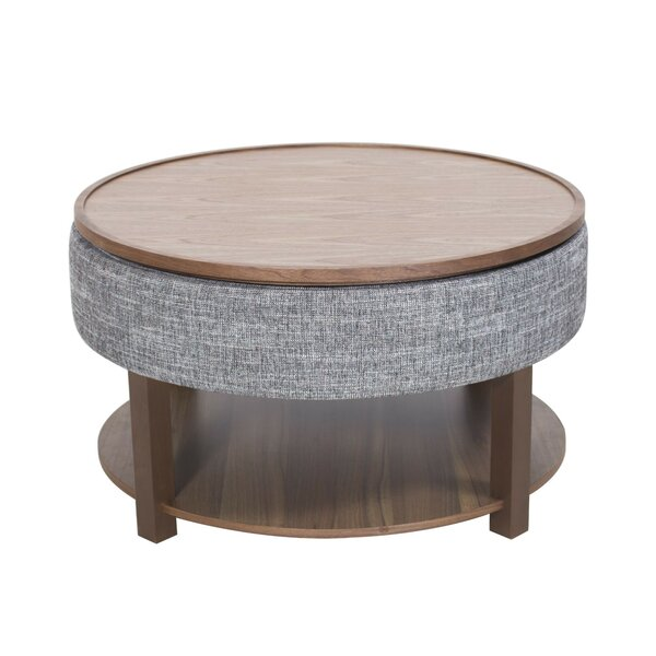 Charleen Lift Top Coffee Table with Tray Top and Storage by Corrigan Studio