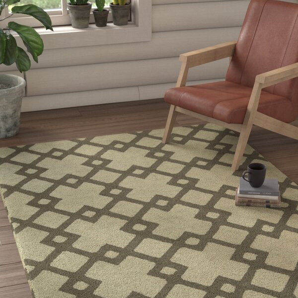 Hateya Hand-Woven Light Gray Area Rug by Loon Peak