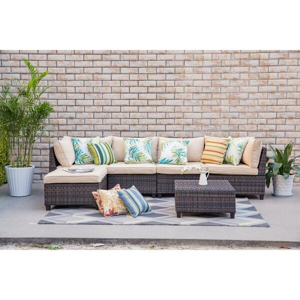 Grimes 6 Piece Sectional Set with Cushions by Bayou Breeze