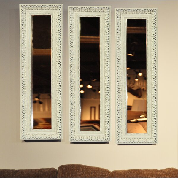 3 Piece Vinton French Victorian Panels Mirror Set (Set of 3) by Ophelia & Co.