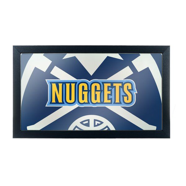 NBA Fade Framed Logo Accent Mirror by Trademark Gl