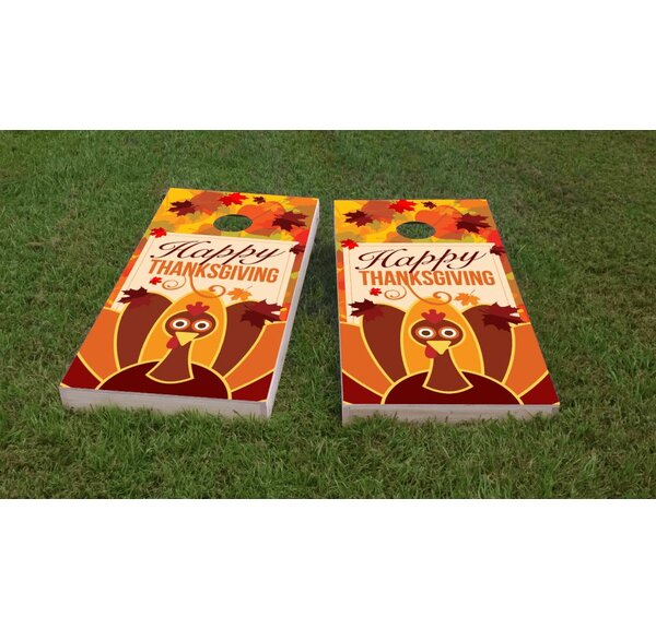 Thanksgiving Themed Light Weight Cornhole Game Set by Custom Cornhole Boards