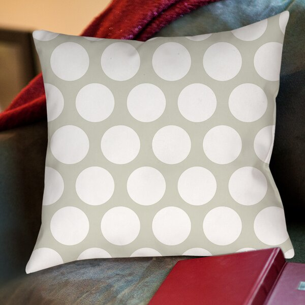 Amina Polka Dot Printed Throw Pillow by Manual Woodworkers & Weavers