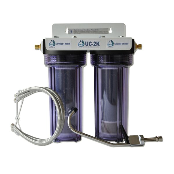 Refillable Double Housing Under Counter Fluoride Filter by CuZn Water Systems