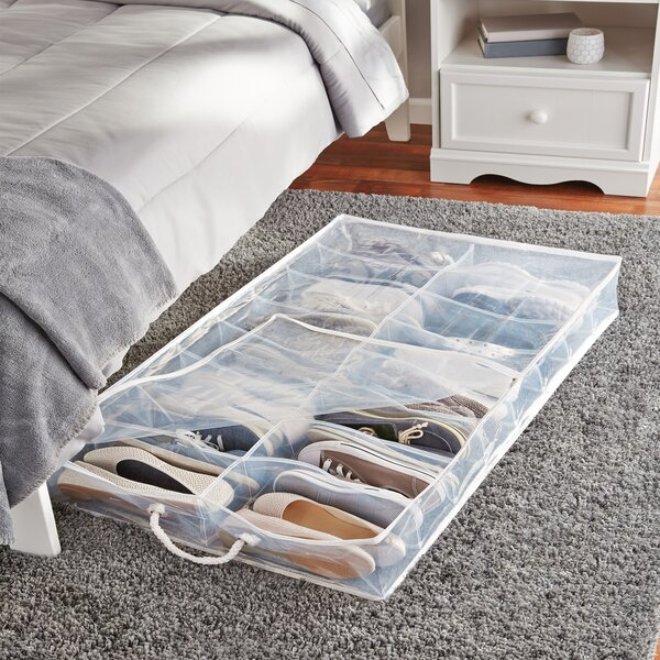 Rebrilliant 2 Compartment Underbed Shoe Storage Reviews
