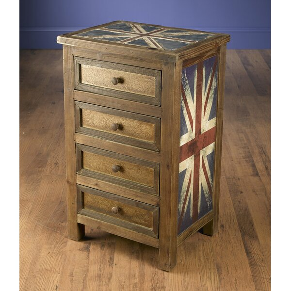 Kinzie 4 Drawer Accent Chest by World Menagerie