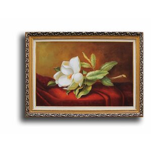 Magnolia Grandiflora' by Martin Johnson Heade Framed Painting by Greenville Signature