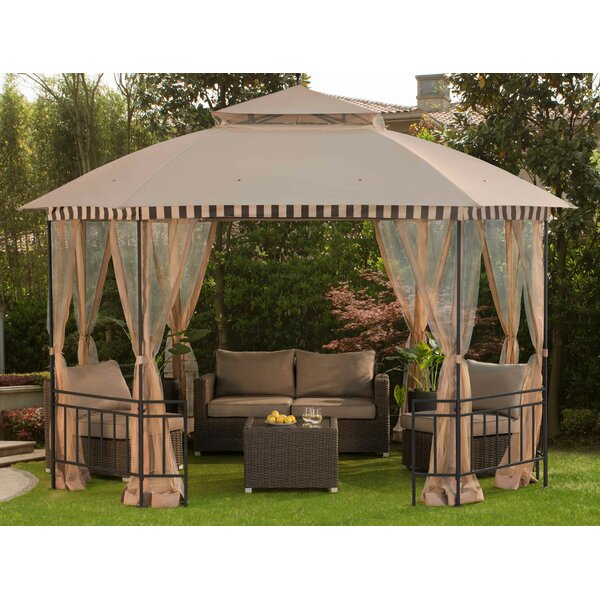 Meijer  12Ft. W x 10 Ft. D Steel Patio Gazebo by Sunjoy