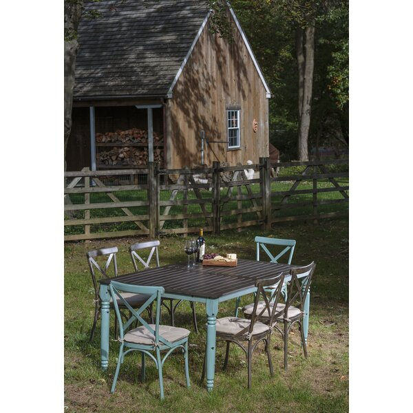 Pramod 7 Piece Dining Set with Cushion by Gracie Oaks