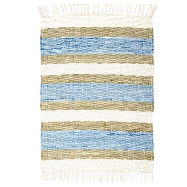 Hampton High Count Hand-Woven Blue Area Rug by CLM