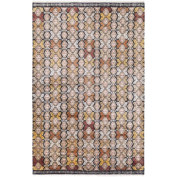 Seline Hand-Knotted Wool Neutral/Brown Area Rug by Bloomsbury Market