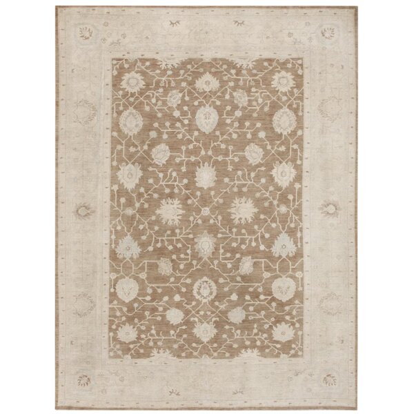 Turkish Oushak Hand Knotted Wool Beige/Gray Area Rug by Pasargad NY